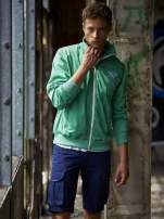 Zielona bluza męska na suwak Funk n Soul