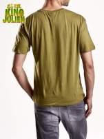 Zielony t-shirt chłopiecy KRÓL JULIAN