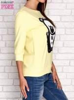 Żółta bluza z nadrukiem pandy