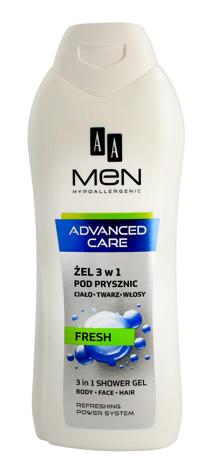 "AA Men Adventure Care Żel pod prysznic 3w1 Fresh  400ml"""