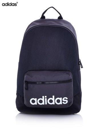 ADIDAS Czarny szkolny plecak z ozdobną kieszenią