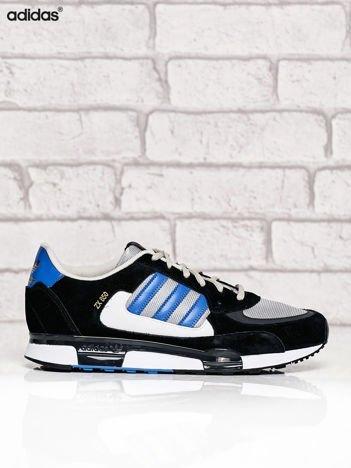 ADIDAS czarne buty męskie z niebieskimi modułami