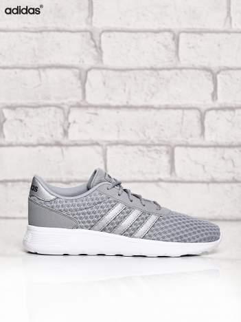 ADIDAS srebrne buty sportowe ze wzorem
