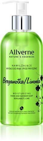 ALLVERNE NAWILŻAJĄCE MYDŁO DO RĄK I POD PRYSZNIC - BERGAMOTKA / LIMONKA 300 ml