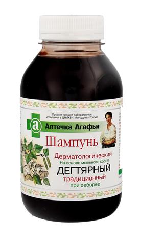 Apteczka Agafii Szampon Dermatologiczny przeciwłupieżowy dziegciowy 300 ml