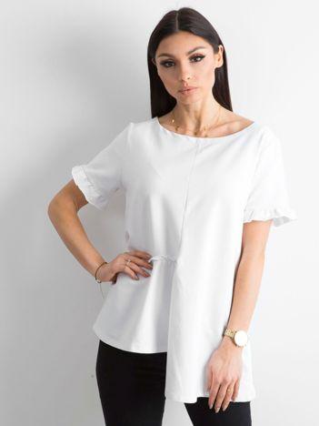 Asymetryczna bluzka biała
