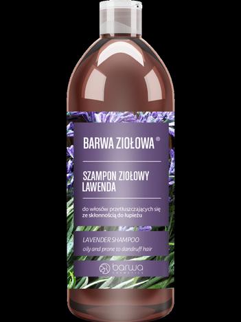 BARWA Ziołowa Szampon do włosów Lawenda - włosy przetłuszczające się i z łupieżem 480 ml