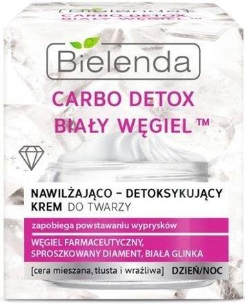 BIELENDA Carbo Detox Biały Węgiel krem nawilżająco-detoksykujący na dzień i noc 50 ml