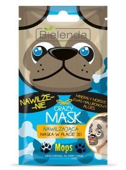 BIELENDA Crazy Mask Nawilżająca maska w płacie MOPS 1 szt