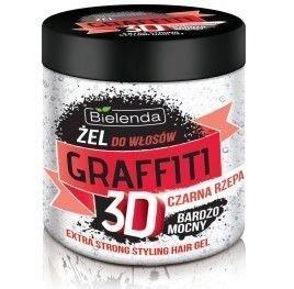 BIELENDA Graffiti 3D Żel do włosów mocny z CZARNĄ RZEPĄ 250 ml