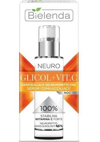 BIELENDA NEURO GLICOL + VIT.C Eksfoliujące neuromimetyczne serum odmładzające na noc 30 ml