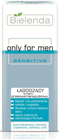 BIELENDA Only for men SENSITIVE Łagodzący krem przeciwzmarszczkowy 50 ml