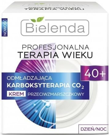 BIELENDA PROFESJONALNA TERAPIA WIEKU Odmładzająca Karboksyterapia CO₂ Krem przeciwzmarszczkowy 40+ dzień/ noc  50 ml