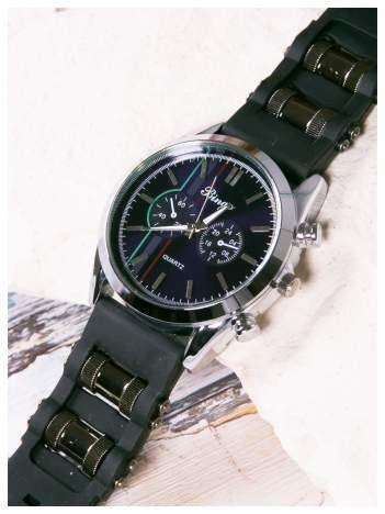 BINGO nowoczesny męski zegarek na miękkim żelowym pasku MEN'S MILITARY STYLE