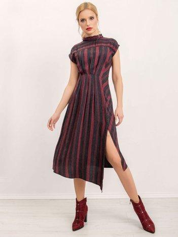 BSL Bordowo-czarna sukienka