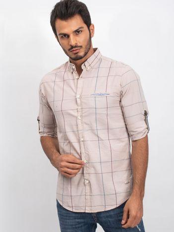 Beżowa koszula męska Soundly