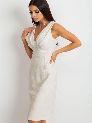 Beżowa sukienka Lalima