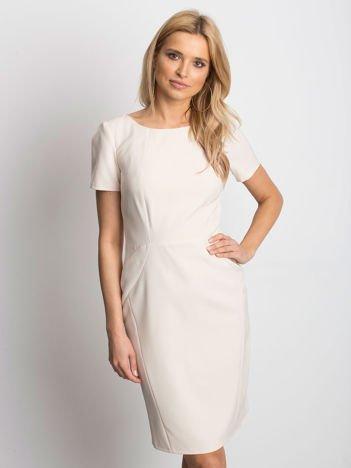 Beżowa sukienka Symmetry
