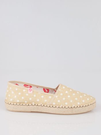 Beżowe espadryle Willow Kiss w groszki