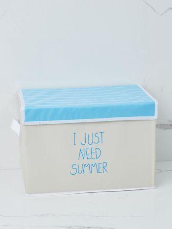Beżowe pudełko na ubrania