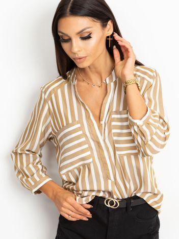 Beżowo-biała bluzka Sienna