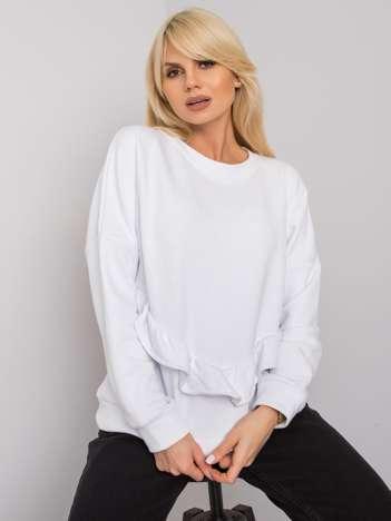 Biała bluza z falbaną Frose RUE PARIS