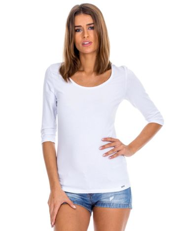 Biała bluzka damska basic
