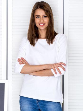 Biała bluzka z bocznymi suwakami