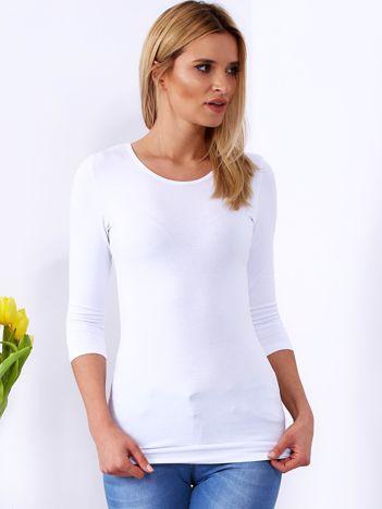 Biała bluzka z ozdobnym dekoltem z tyłu