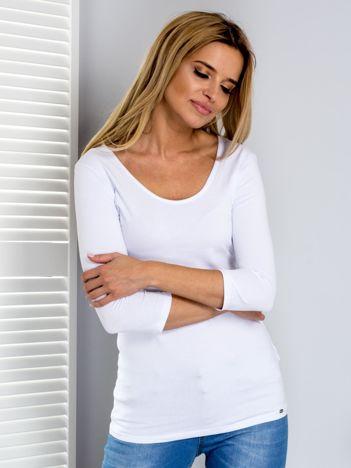 Biała bluzka ze sznurowanym dekoltem z tyłu