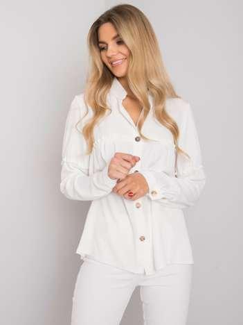 Biała koszula z długim rękawem Guleen RUE PARIS
