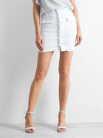 Biała spódnica Buttons