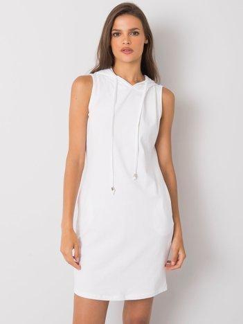 Biała sukienka z kapturem Molly RUE PARIS