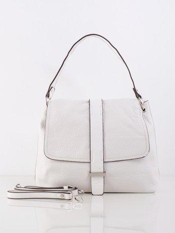 Biała torba z klapką