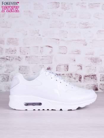 Białe buty sportowe na poduszce powietrznej