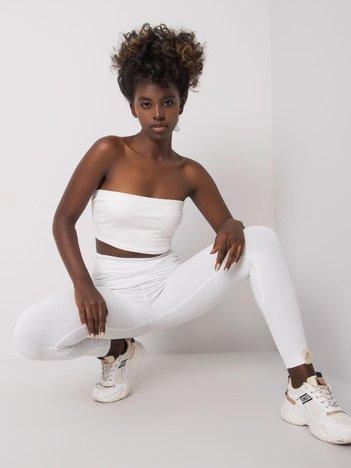 Białe legginsy bawełniane Ylena FOR FITNESS