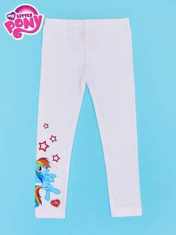 Białe legginsy dla dziewczynki z nadrukiem MY LITTLE PONY