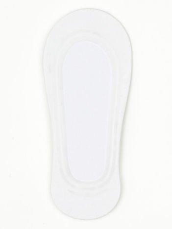 Białe skarpetki damskie stopki