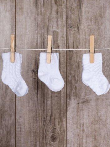 Białe skarpetki dla dziewczynki zestaw 3 pary
