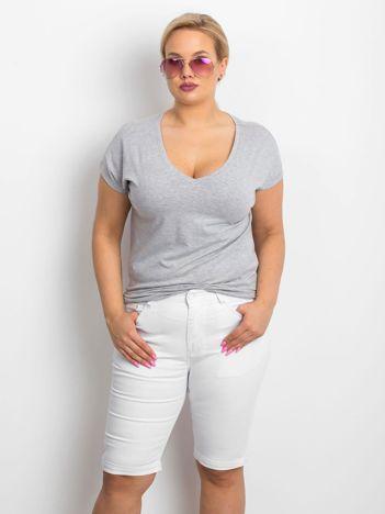 Białe szorty plus size Sophisticaded