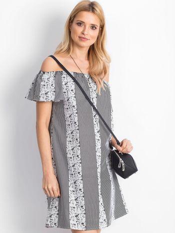 Biało-czarna sukienka Sicilia