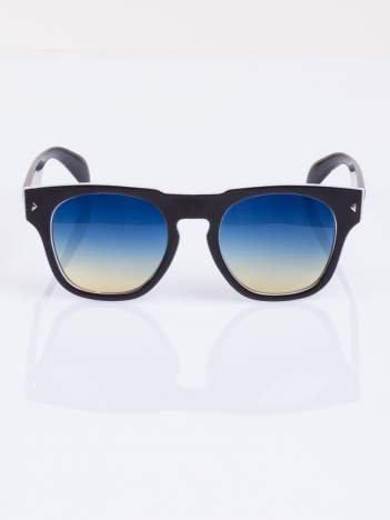 Biało-czarne okulary hipster w stylu VINTAGE RETRO