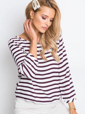 Biało-fioletowa bluzka Imagine