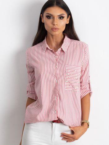 Biało-różowa koszula Recognition
