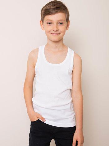 Biały bawełniany top dla chłopca