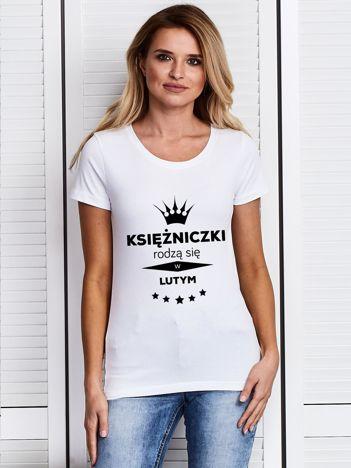 Biały damski t-shirt KSIĘŻNICZKI Z LUTEGO