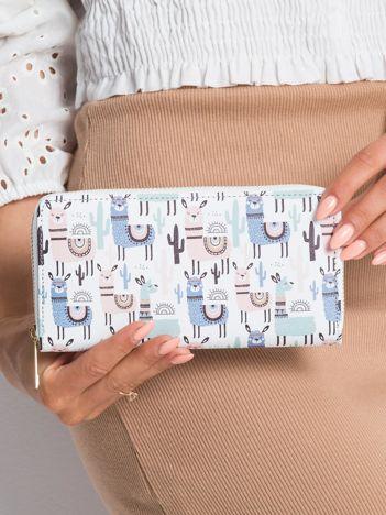 Biały portfel w lamy