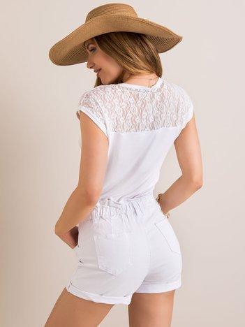 Biały t-shirt Dallas RUE PARIS