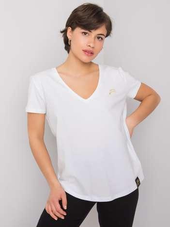 Biały t-shirt Ginny FOR FITNESS