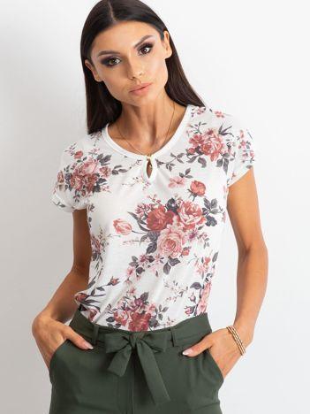 Biały t-shirt Inky